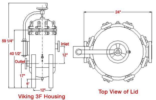 cim-tek viking 3f bulk filter housing  300gpm