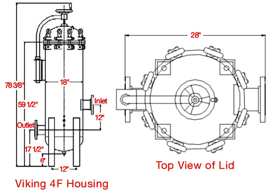 cim-tek viking 4f bulk filter housing  500gpm